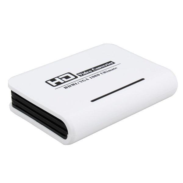 новое прибытие HDMI к VGA конвертер hdmi к VGA аудио адаптер RCA 3.5 мм стерео аудио и SPDIF / Toslink аудио выход