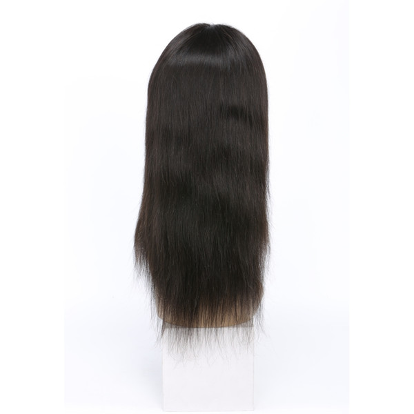 Avant de dentelle malaisienne perruques 8-24 pouces droite de cheveux humains soyeuse douce droite perruque de dentelle avant avec les cheveux de bébé pré pincé