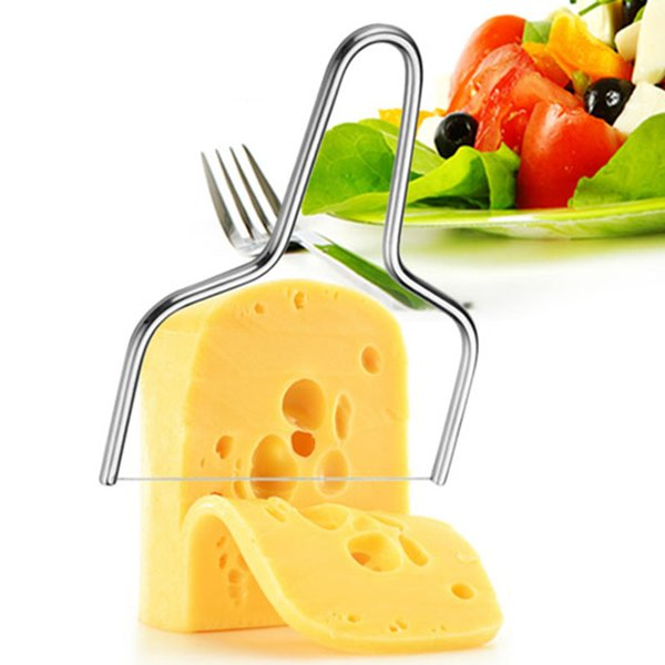 1Pcs Stainless Steel Cheese Wire Slicer Cheese Butter Cutter Cake Knife For Cooking Kitchen Cheese Tools
