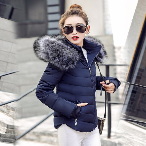 parka Winter Jackets Women2018 Fashion Wadded Coat Female jacket Women Winter New Slim Warm Down cotton clothing Long sleeve Coa S18101505
