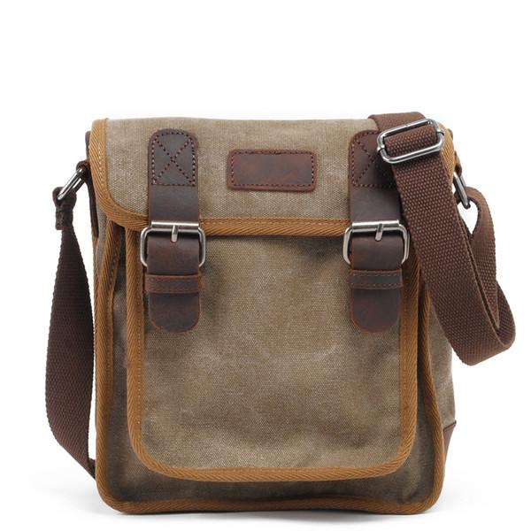 MUCHUAN Men Bag Canvas Vertical Package Men Vintage Messenger Bag Leisure Shoulder Original Retro Shell Crossbody Man
