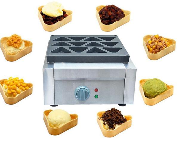 Commerciale triangolo antiaderente elettrico obanyaki waffle maker ferro macchina triangolo waffle per fare waffle