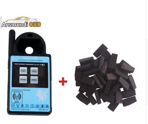 Mejor Último V5.18 ND900 Mini Transponder Key Programmer Mini900 Programador de la llave del coche + 5 unids 4C 46 4D 48 G Chips