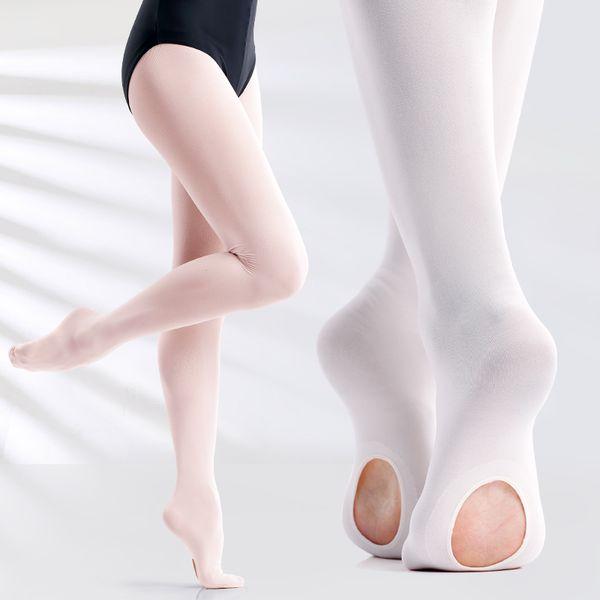Professional Kids Children Girls Soft Microfiber Convertible Ballet Dance Tights 60D 3 Pairs