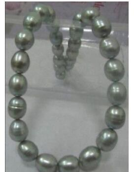 Livraison gratuite 7-8mm collier de riz perle d'eau douce blanche 17.5inch