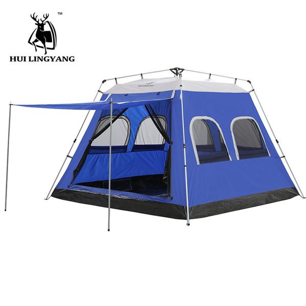 Barraca de Acampamento 5-6-7-8 Pessoa Carro Tenda Hidráulica automática Ao Ar Livre Grande Viajando Piquenique 4-temporada tendas família à prova d 'água