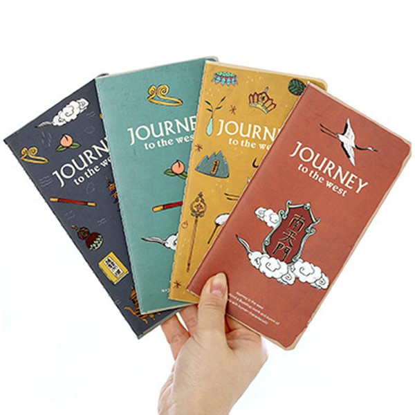 Wholesale- 1 x vintage Journey to the West notebook diary 48K notepad stationery papelaria hand books school office supplies