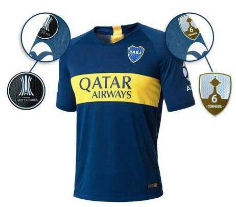 1cccb45591 Compre 2018 BOCA JUNIORS Camisolas De Futebol 6 CONMEBOL GOLD CUP ...