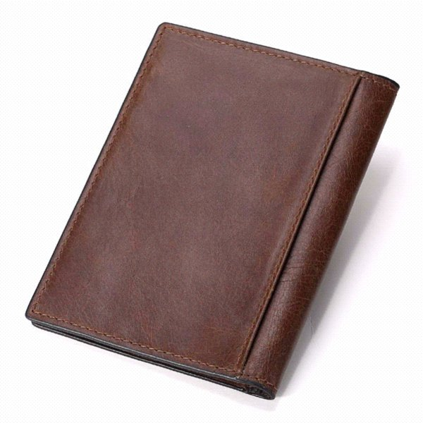 KAVIS Genuine Leather Passport Cover ID Business Card Holder Travel Credit Wallet for Men Purse Case Rfid Driving License Male