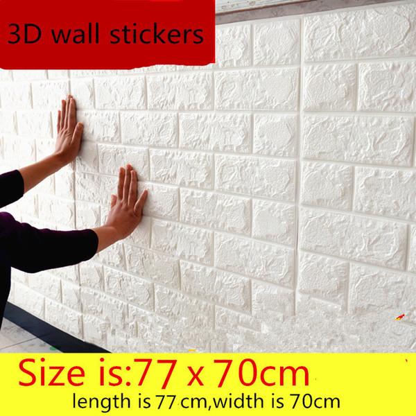 Großhandels-3D Wandaufkleber selbstklebendes kreatives Fernsehhintergrundschaumwand-Ziegelsteintapete dekoratives wasserdichtes