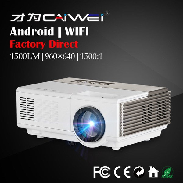 Bulit-in Android Portable Mini LED Projector for Home Theater Movie 1080p HD Wireless Wifi Online Video Game HDMI VGA