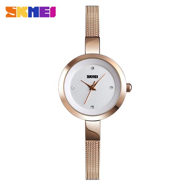 SKMEI Elegant Dress Ladies Watch Top  Female Clock Fashion Women's Watches Water Resistant Women Wrist Watch reloj mujer