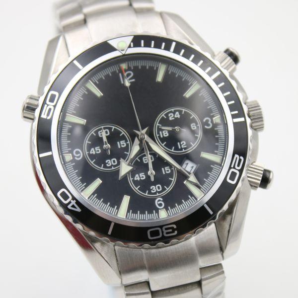 Newest Wristwatches Chronograph Quartz Best Men Master Co-Axial 44mm Planet Ocean James Bond 007 Black Mens Watch Sports Mens Wristwatch