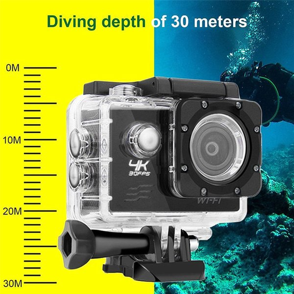 F60 FHD Wifi Action Camera 16MP 170 Degree Wide Angel Sports DV Waterproof Outdoor Diving Riding Photo Shooting Video Recording