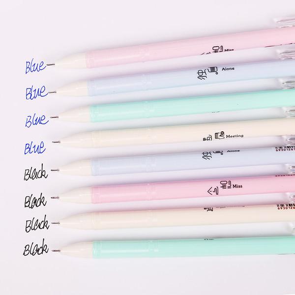 1PC Piccolo fresco plastica Penne Gel Mood Confession Signature penna penna scrittura penna blu nero Refill ufficio cancelleria G-3660