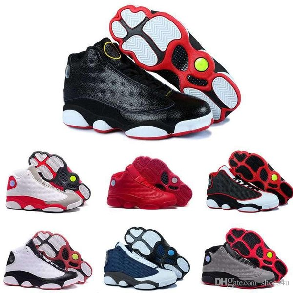 [With Box]2016 New 13S China mens basketball shoes top quality outdoor sports shoes for men many colors US 8-13 Free Drop Shipping