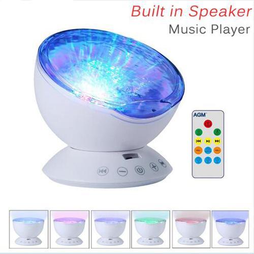 3D Night Ocean Wave Starry Sky Aurora LED Night Light Projector Luminaria Novelty Lamp USB Lamp Nightlight Illusion For Baby Children