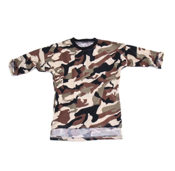 Toddler Baby Girls Mini Dress Clothes Long Sleeve Camouflage Dress Kid Loose Straight Casual Style Shirt Children Clothing
