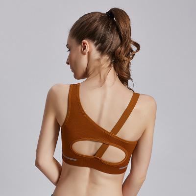 B052 Китай хорошее качество сексуальный назад новый йога бюстгальтер женщины мягкий трясти доказательство работает тренировки тренажерный зал Майка спортивный бюстгальтер