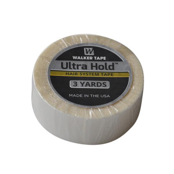 1.9 cm (3/4 inç) * 3 Metre Beyaz Ultra Tutun Saç Için Çift Taraflı Yapıştırıcılar Bant Saç Uzatma / Peruk / Dantel Peruk Yapıştırıcı Peruk bant