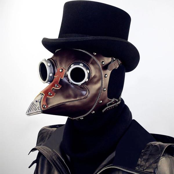 YENI Steampunk Veba Pointer Maskesi, cadılar bayramı Sahne, lüks Balo Parti Malzemeleri Maske Yetişkin Rol Oynayan Malzemeleri, DHL Ücretsiz Nakliye!
