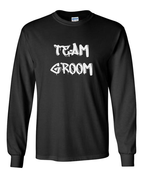 Long Sleeve Team Groom Shirt Bachelor Party Tee Best Man Groomsmen Marriage