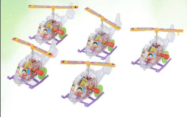 Novelty wind-up toys creative clear mini airplane,children gift toys