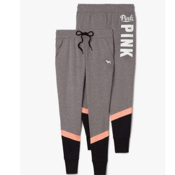 High Quality Pink Pants Women Love Pink Sports Pants Fashion Yoga Pants Autumn Capris Pink Letter Trousers European America Leggings