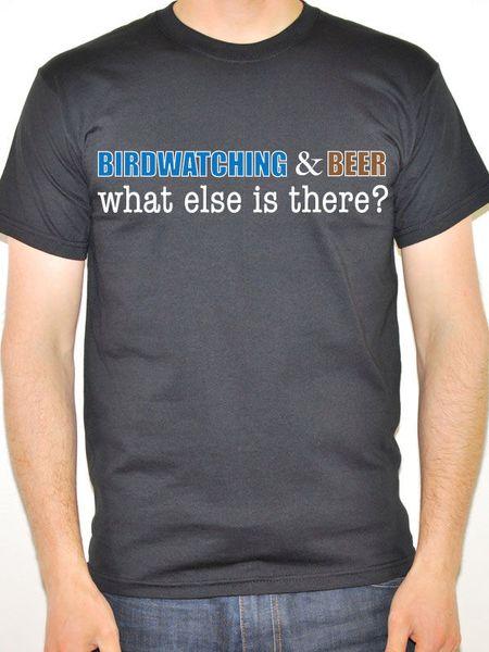 Vogelbeobachtung und Bier Was gibt es sonst noch? - Sport / Funny Männer Themen-T-Shirt