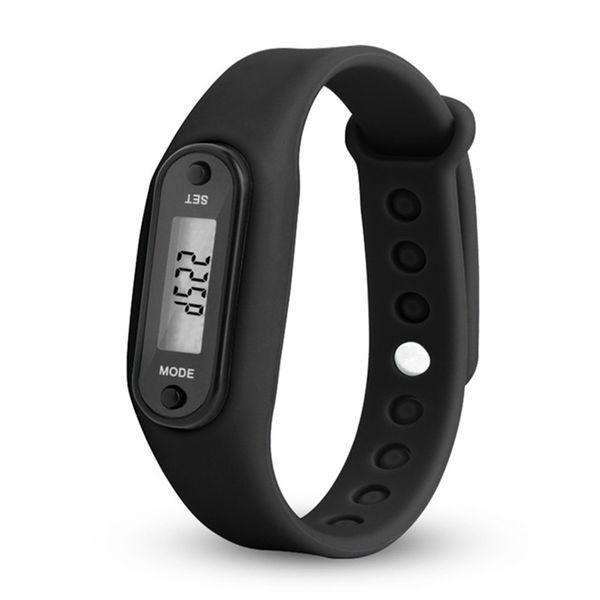 Run Step Watch Pulsera Podómetro Contador de calorías Digital LCD Walking Distance Relojes de pulsera electrónicos mujeres del reloj de silicona