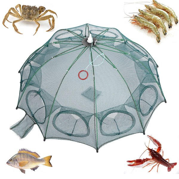 mesh jersey 4/6/8/10 Hole Nylon Fishing Net Mesh Trap Cage Hexagon Automatic Fishing Shrimp Trap Net Fish Minnow Crab Baits Cast