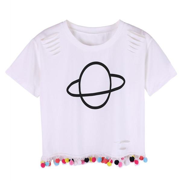 Weibliche reine weiße Baumwolle O-NeckT Shirt lose Kurzhülse Baumwolle Loch Shirts Frauen Basic Schwarz Weiß Tee Tops