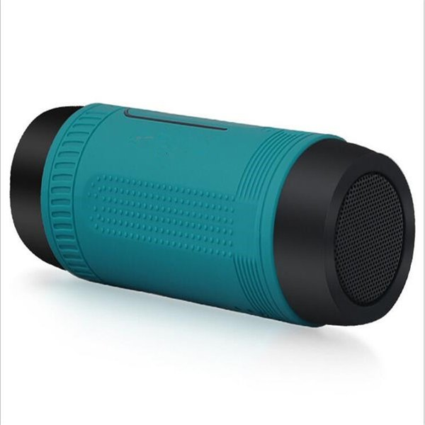 Hot free shipping 6 colors Waterproof outdoor flashlight riding sound card usb speaker Wireless Bluetooth card LED speaker