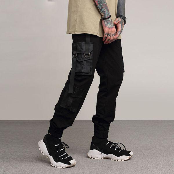 High Street Black Joggers Pantalons Pantalons cargo multi-poches pour hommes Pantalons décontractés Pantalons pour hommes Pantalons de survêtement