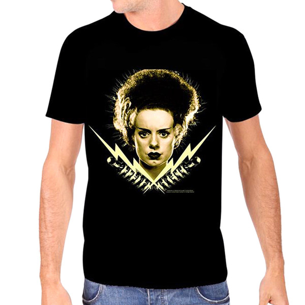 Authentic Bride Of Frankenstein Bride Bolts Glow In The Dark T-Shirt S-2Xl New Tee Shirt Men Male Factory Wholesale Short Sleeve Cotton Cust