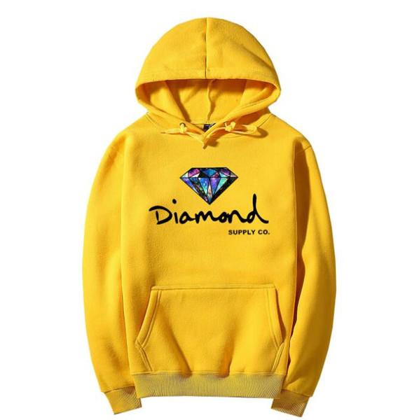 Diamond supply co hommes hoodie femmes street fleece sweat chaud hiver automne mode hip hop pull primitif