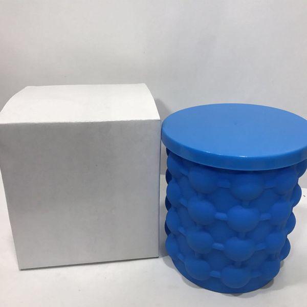 Silikon-Eiswürfelbereiter, der Eiskübel spart Das revolutionäre Küchenwerkzeug Irlde Ice Genie Dining Bar mit weißer Retail-Box