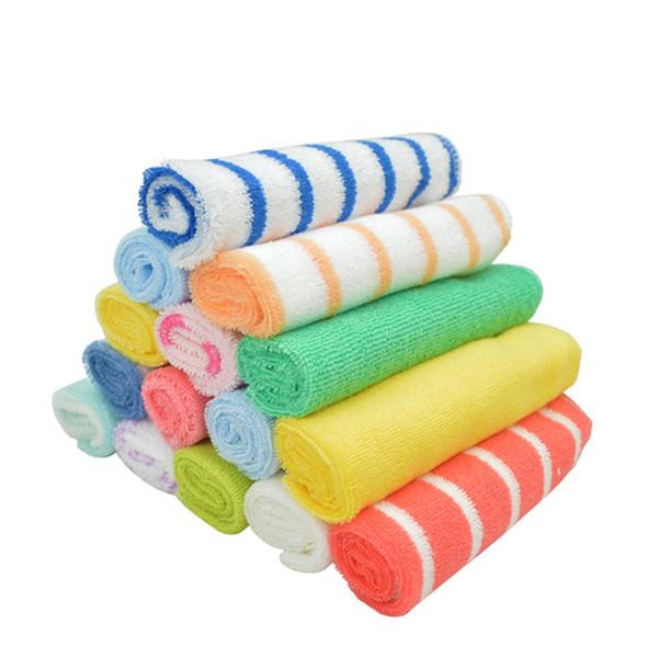 (8 ШТ. / ЛОТ) Уход полотенце ребенка нагрудники платок 20 * 20 см см детское сухое полотенце YYT195