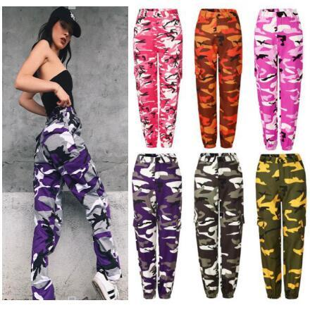 top popular women casual zaooye pants Ladies Fashion camouflage Camo Long Pants Womens sport loose hot sale Trousers PT6-7240 2019