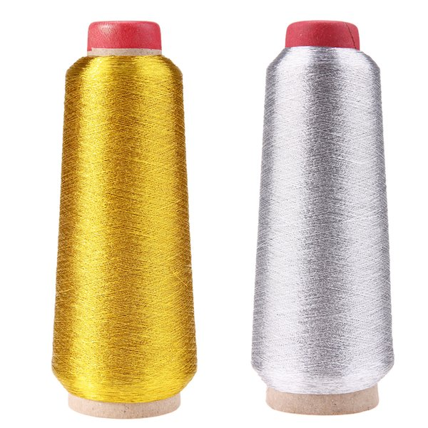 Gold/Silver Computer Cross-stitch Embroidery Threads 3000M Sewing Thread Line Textile Metallic Yarn Woven Embroidery Line