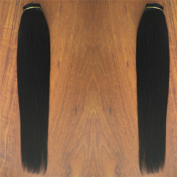 Jet Black Color one piece set clip in hair extensions with 5 clips 10inch width,120gr set, free DHL