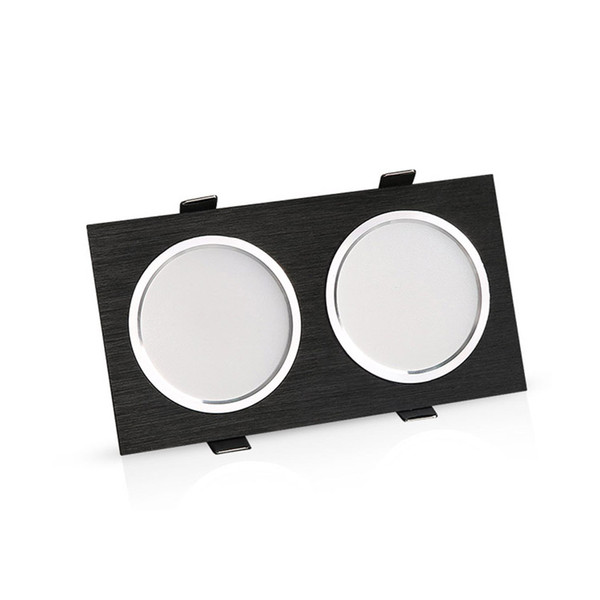 Square double led dimmable12w 16w 20w Led fog Downlight Recessed Led Ceiling Down Light Lamp Indoor with AC85-265V Driver adairs
