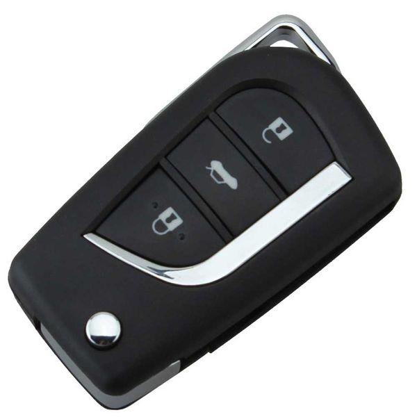 4 Botões Modificado Substituição Shell Dobrável Virar Caso Chave Remota Fob Para Toyota 3 Botão Untitled TOY43 / TOY48 Lâmina