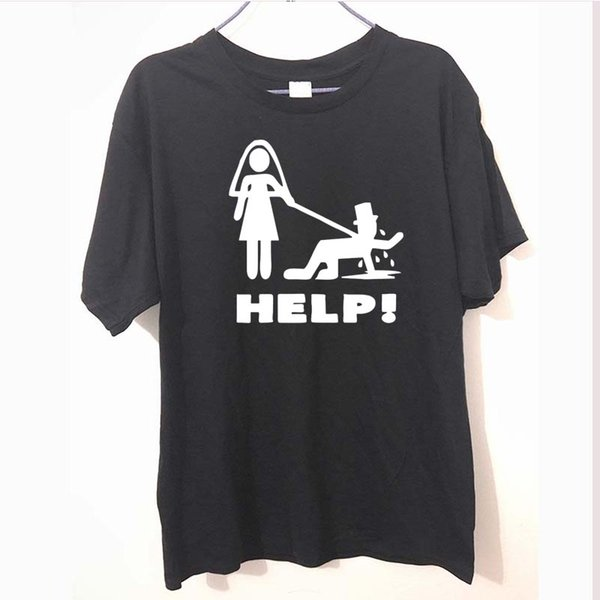 Funny Groom Help Stag Party Hen Novelty Tshirt For Men Summer Fashion Letter T Shirt Cotton Casual T-Shirt