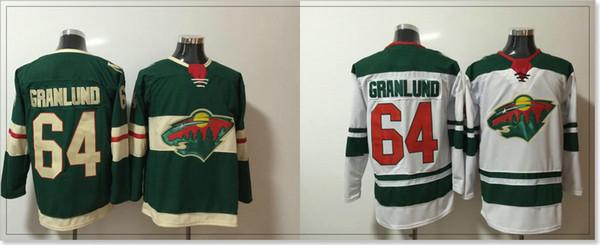 Minnesota Wild # 64 Mikael Granlund Nuevo Mens Hockey sobre hielo Camisetas Pro Deportes equipo Jerseys Uniformes Bordado cosido Sz S-XXXL En Venta