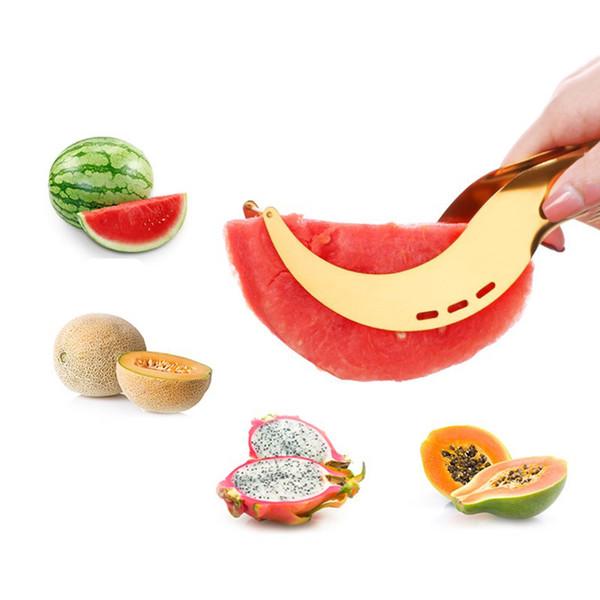 22CM Stainless Steel Watermelon Slicer Cutter Kitchen Tools Gadgets Melon Cutter Knife Fruit Segmentation Watermelon Corer