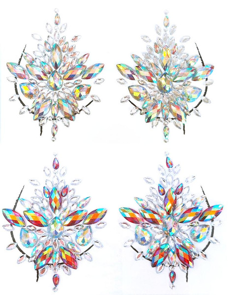 13 Styles Adhesive Sticky Gems Sticker  Face Boob Jewel Crystal Festival Gems Party  Stickers For Body Art