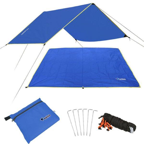 NUEVO 4-6 Hombre Ultraligero Multifuncional Impermeable Alfombra de Camping Carpa Tarp Foot Ground Mat Para Acampar Al Aire Libre Senderismo Picnic