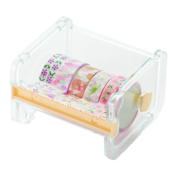 VODOOL Durable Stationery Masking Tape Cutter Washi Tape Storage Organizer Cutter Office Dispenser Office Supplies