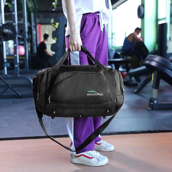 Men Light Training Gym Sports Bag Outdoor Waterproof Fitness Shoulder Bag  With Shoes Storage Pocket Women Yoga Tote sac sport ac6268ac6d895